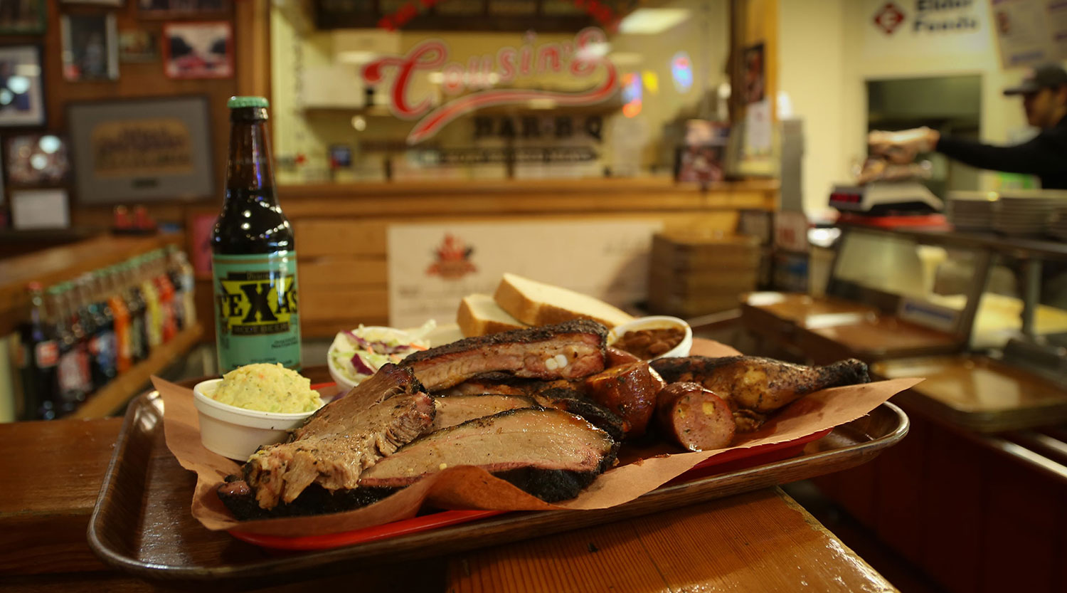 Cousin's Forth Worth Bar-B-Q Restaurants have been serving real slow smoke Texas BBBQ since 1983
